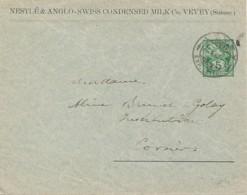 Suisse – Affranchie Sur Commande – Entête Nestlé & Anglo Swiss Condensed Milk C° - Vevey - Enteros Postales
