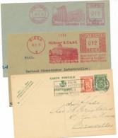 2 EMA 1932 & 36 & Flamme Le Pain Nourrit Et Fortifie - Moulins Et Magasin Pour Grains Et Farine. - Marcofilia - EMA ( Maquina De Huellas A Franquear)
