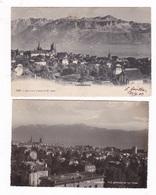 Lot De 2 Jolies CP Lausanne, Suisse, à 30 Ans D'intervalle, Ont Voyagé En 1903 Et 1935 - VD Vaud