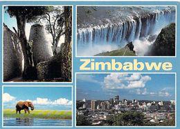 Afrique-  Zimbabwe ZIMBABWE Victoria Falls Lake Kariba Harare   TIMBRE STAMP ZIMBABWE - Zimbabwe