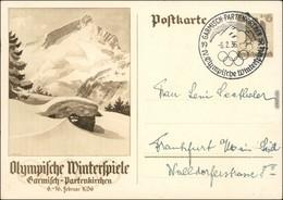 Ansichtskarte Garmisch-Partenkirchen Ganzsache Olympische Winterspiele 1936 - Garmisch-Partenkirchen