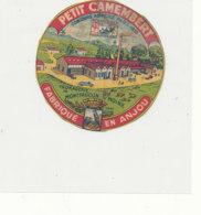Y 362  / ETIQUETTE DE FROMAGE  - PETIT    CAMEMBERT   MONTFAUCON S/ MOINE FAB EN ANJOU - Cheese