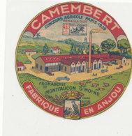 Y 363  / ETIQUETTE DE FROMAGE  -    CAMEMBERT  45%   MONTFAUCON S/ MOINE FAB EN ANJOU - Cheese