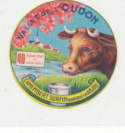 Y 364  / ETIQUETTE DE FROMAGE  -    CAMEMBERT    VALLEE DE L'OUDON  FAB EN ANJOU - Cheese