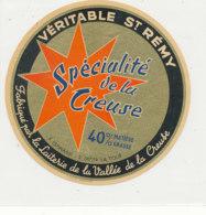 Y 372  / ETIQUETTE DE FROMAGE   ST REMY LAITERIE DE LA VALLEE DE LA CREUSE  ESPINASSE  ST DIZIER  LA TOUR - Cheese