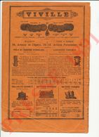 (Mauvais état) Page Publicité Presse 1891 Viville Poêle Lessiveuse Grilloir Rôtissoire Cafétière 229CH13 - Old Paper