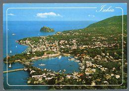 °°° Cartolina - Ischia Il Porto E Castello Panorama Dall'aereo Viaggiata °°° - Napoli