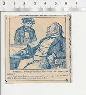 2 Scans Humour De 1912 Métier Juge D'Instruction Tribunal 51B18 - Old Paper