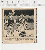 2 Scans Humour Métier Peintre En Bâtiment Ecole De Saint-Cyr Uniforme Képi  51B18 - Old Paper