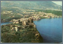 °°° Cartolina - Ischia Il Castello Aragonese Dall'aereo Viaggiata °°° - Napoli