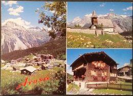 Ak Schweiz - Arosa - Inner-Arosa - Kirche - Walserhaus - GR Grisons