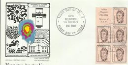 AUSTRALIA 1970 FAMOUS AUSTRALIANS BOOKLET PANE FDC - 1966-79 Elizabeth II