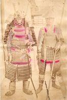 JAPON Photographie Originale Tirage Albuminé Aquarellé Ca 1880 - Rarissime Photo De Samuraï Armes Et Armures ! - Old (before 1900)