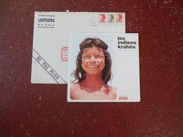 12 CHEQUES CHIC LUSTUCRU COMPLET AVEC SA POCHETTE LES INDIENS KRAHÔS D'AMAZONIE - Advertising