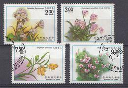 China 1991  Mi.Nr:  1956-1959 Pflanzen   Oblitérés / Used / Gestempeld - Gebraucht