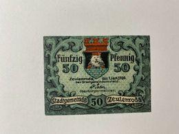 Allemagne Notgeld Zeulenroda 50 Pfennig - [ 3] 1918-1933 : Weimar Republic