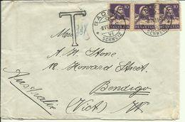 1931  Brief Mit Taxgebühr Von Baden Nach Bendigo, Australien - Suiza