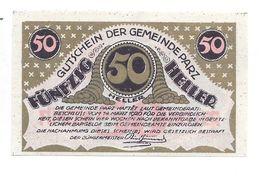 **notgeld   Austria  Parz 50 Heller 721b Golddruck - Austria