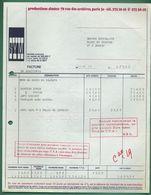 75 Paris Sym  Production ( Facture Pour Manteau Jupe Pantalon ) - Printing & Stationeries