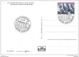 61 - 21 - Carte Suisse Ligne Chemins De Fer Rhétiques - Oblit Spéciale De Samedan 1978 - Eisenbahnen