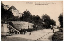 CPA 52 - LANGRES (Haute Marne) - Route De La Gare De Langres-Marne - Langres