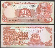 NICARAGUA : 20 Cordobas 1979 - P135  -  UNC - Nicaragua