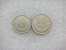 Mongolia  15 And 20 Möngö , 1970 - Mongolie