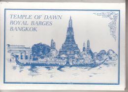 THAILAND - TEMPLE OF DAWN  ROYAL BARGES BANGKOK - Dépliant De 10 Cpsm - Thailand