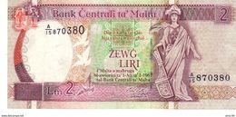 Malta P.41 2 Liri 1989 Au++ - Malte