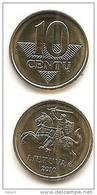 Lithuania - Lietuva  2010 Regular Coin 10 Cetai UNC - Lituanie
