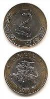 Lithuania - Lietuva  2010 Regular Coin  2 Liti / Litas - Bi-Metallic  UNC - Lituanie