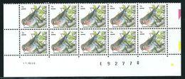 Buzin Nr 2457**  Strook Van 10 Met Datum 11-VIII-95 - 1985-.. Vogels (Buzin)