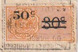 Maroc. Protectorat Français. Timbre De Quittance. Fiscal. 50c. Sur Papier. Surcharge. - France (former Colonies & Protectorates)