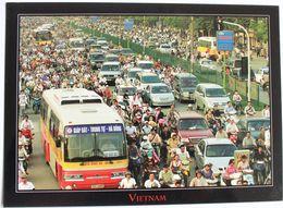 HANOI. BUS URBAIN EN CIRCULATION. 13 X 18 CM - Buses & Coaches