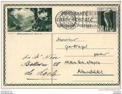 """6 - 3 - Entier Postal Avec Illustration """"Braunwald"""" Oblit Mécanique 1930 - Entiers Postaux"""