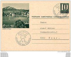 "6 - 5 - Entier Postal Avec Illustration ""Luzern Mit Pilatus"" Oblit Spéciale Bulle 1965 - Interi Postali"