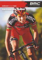 CARTE CYCLISME ALESSANDRO BALLAN TEAM BMC 2011 - Cyclisme