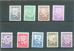 1941 BELGIQUE Y & T N° 547 à 555 ( * ) Les 9 Timbres !! Le 554 Est ( O ) - Neufs