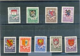 1941 BELGIQUE Y & T N° 538 à 546 ( * ) Les 9 Timbres - Neufs