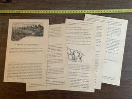 CONTE FLAMAND 1885 HISTOIRE LE BATON DE SAINT WINOC LILLE HAMEAU UXEM-EN-MOERE BERGUES SAINT WINOC - Collections