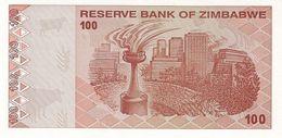 Zimbabwe P.97 100 Dollars 2009    Unc - Zimbabwe