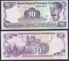 NICARAGUA : 50 Cordobas 1972 - P135  -  UNC - Nicaragua