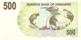 Zimbabwe P.43 500 Dollars 2007    Unc - Zimbabwe