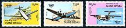 Guinée Guinea Guiné Bissau 1984 OACI ICAO Caravelle, Iliouchine Il-76, Douglas DC-6 (YT 266, Mi 754, SG 832) - Airplanes