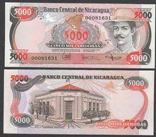 NICARAGUA : 5000 Cordobas 1987 - P146  -  UNC - Nicaragua