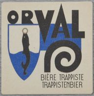 Sous-bock ORVAL Bière Trappiste Trappistenbier Bierdeckel Bierviltje Coaster - Beer Mats