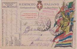 1918 POSTA MILITARE/ 41 C2 (31.7) Su Cartolina Franchigia - 1900-44 Victor Emmanuel III