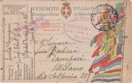 1918 POSTA MILITARE/ 21 - A C2 (27.4) Su Cartolina Franchigia - 1900-44 Victor Emmanuel III