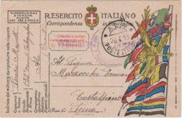 1919 ALA/POSTE IALIANE C2 (26.4) Su Cartolina Franchigia - 1900-44 Vittorio Emanuele III