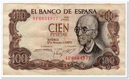 SPAIN,100 PESETAS,1970(1974)P.152,VF+ - [ 3] 1936-1975 : Regency Of Franco